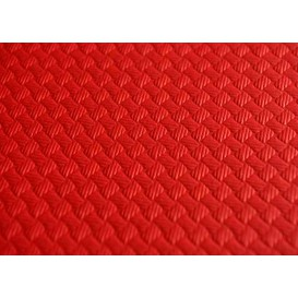 Voorgesneden papieren tafelkleed rood 40g 1x1m (400 eenheden)