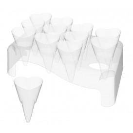 """Plastic Bediening kegels met Bediening kegel houder """"Love"""" 50ml 18x26cm (20 sets)"""