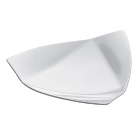 "Proeving Plastic bord PS ""Vela"" wit 8,5x8,5 cm (50 eenheden)"
