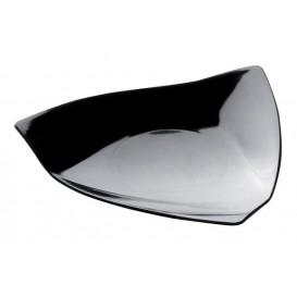 """Assiette Dégustation """"Voile"""" Noir 8,5x8,5 cm (50 Utés)"""