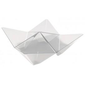 "Proeving plastic kom PS ""ofigami"" transparant 10,3x10,3cm (500 stuks)"