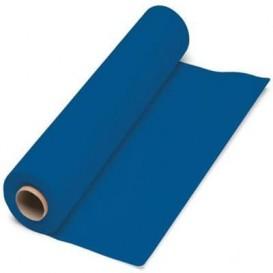 Papieren tafelkleed rol blauw 1x100m. 40g (1 stuk)