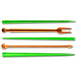 "Plastic vleespennen ""Snack Stick"" meer kleurig 9cm (6600 stuks)"