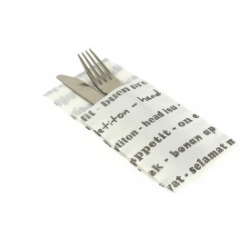 """Zakvouw papieren servet """"Enjoen enour meal"""" 40x40cm (30 stuks)"""