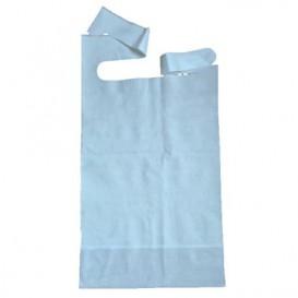 Wegwerp volwassen slabbetje met zak blauw 36x65cm (500 stuks)