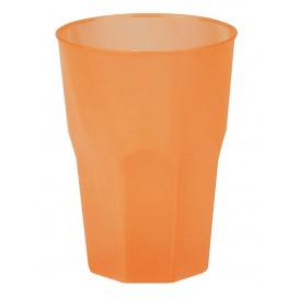 "Plastic PP beker ""Frost"" oranje 350ml (20 stuks)"