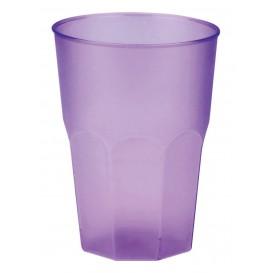 """Verre Plastique """"Frost"""" Violet PP 350ml (20 Unités)"""