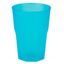 """Verre Plastique """"Frost"""" Turquoise PP 350ml (200 Unités)"""