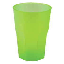 """Plastic PP beker """"Frost"""" limoengroen 350ml (20 stuks)"""