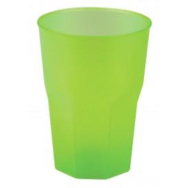 """Verre Plastique """"Frost"""" Vert citron PP 350ml (20 Unités)"""
