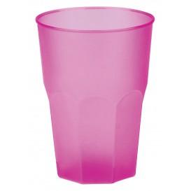 """Plastic PP beker """"Frost"""" fuchsia 350ml (420 stuks)"""