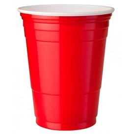 Plastic PS beker Amerikaanse Red Party Bekers 470ml (50 stuks)