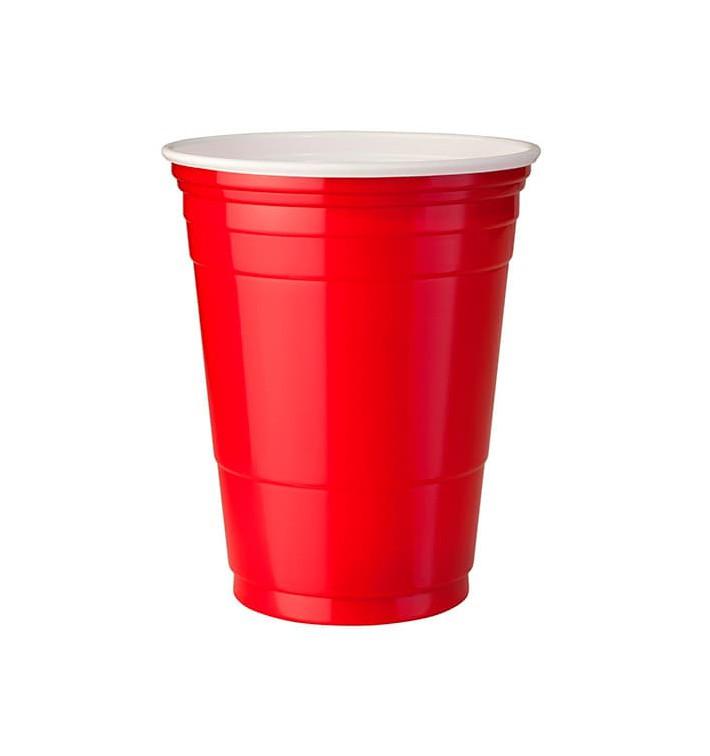 Gobelet Plastique Rouge en PS 12Oz/360ml (50 Unités)
