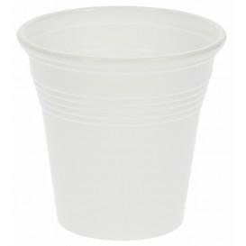 Plastic PS Shotje wit 80 ml (50 stuks)