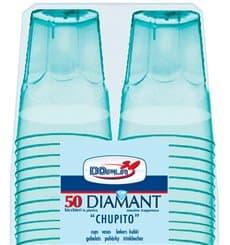 "Gobelet Shot ""Diamant"" PS Cristal Bleu 50ml (50 Utés)"