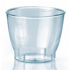 """Plastic PS Shotje Geïnjecteerde glascider """"Cool"""" 40 ml (50 stuks)"""