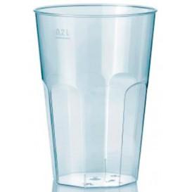 """Plastic PS beker Kristal """"Deco"""" transparant 200 ml (25 stuks)"""