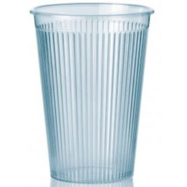 "Gobelet ""Ribbed"" PS 200ml Dur Transparent (25 Unités)"