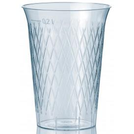 """Plastic PS beker Geïnjecteerde glascider """"Rombos"""" 200 ml (1000 eenheden)"""