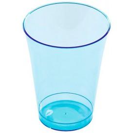 Plastic PS beker Geïnjecteerde glascider turkoois 230 ml (150 stuks)