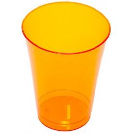 Plastic PS beker Geïnjecteerde glascider oranje 230 ml (10 stuks)