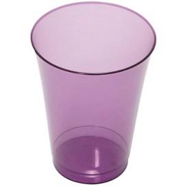 Plastic PS beker Geïnjecteerde glascider aubergine kleur 230 ml (150 stuks)