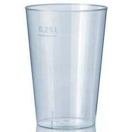 Plastic PS beker transparant 250 ml (50 stuks)