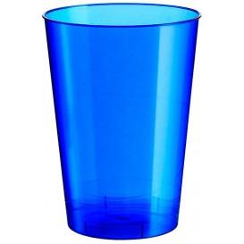 "Plastic PS beker ""Moon"" blauw parel 230ml (50 stuks)"
