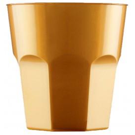 Plastic beker voor Cocktail PS goud Ø7,3cm 220ml (50 stuks)