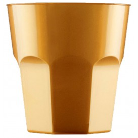Verre Plastique à Cocktail Or PS Ø73mm 220ml (500 Utés)