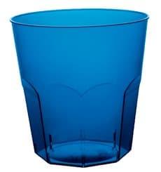 Verre Plastique Cocktail Bleu Transp. PS Ø73mm 220ml (1000 Utés)