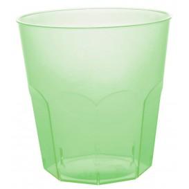 Plastic PS beker limoengroen transparant Ø7,3cm 220ml (50 stuks)