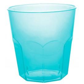 Verre Plastique Turquoise Transp. PS Ø73mm 220ml (500 Utés)