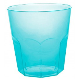Plastic PS beker turkoois transparant Ø7,3cm 220ml (50 stuks)