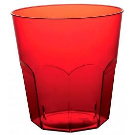 Plastic PS beker rood transparant Ø7,3cm 220ml (1000 stuks)