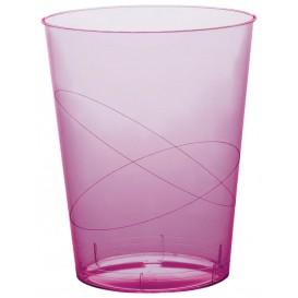 """Plastic PS beker """"Moon"""" lila transparant 350ml (20 stuks)"""
