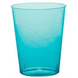 Verre Plastique Moon Turquoise Transp. PS 350ml (200 Unités)