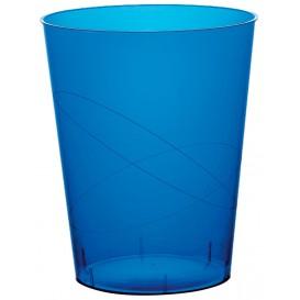 "Plastic PS beker ""Moon"" blauw transparant 350ml (20 stuks)"