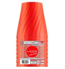 "Gobelet Plastique PP ""X-Table"" Orange 320ml (128 Utés)"