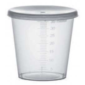 Plastic Deksel PP transparant Ø4,5cm voor Graduated beker PP transparant (250 stuks)