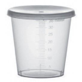 Plastic Deksel PP transparant Ø4,5cm voor Graduated beker PP transparant (2000 stuks)