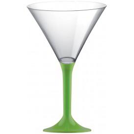 Flûte Plastique Cocktail Pied Vert citron 185ml 2P (20 Utés)