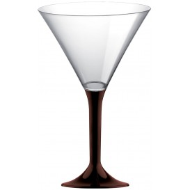 Plastic stamglas Cocktail bruin 185ml 2P (20 stuks)