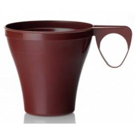 Tasse Plastique Dur Marron 80ml  (40 Unités)