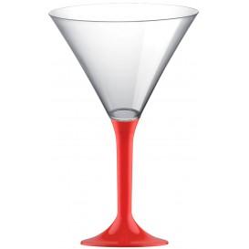 Plastic stamglas Cocktail rood 185ml 2P (20 stuks)