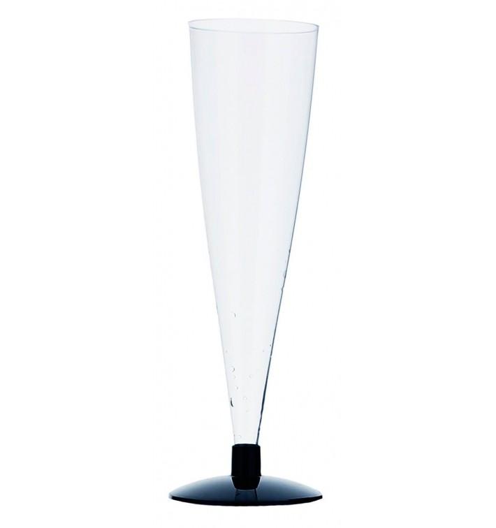 Flûte Jetable à Champagne Pied Noir 150ml 2P (6 Unités)