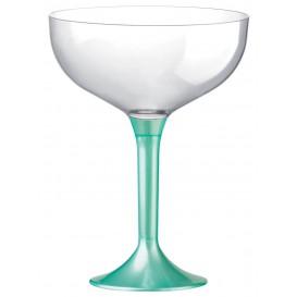 Plastic stam fluitglas tiffanen parel 200ml 2P (20 stuks)