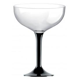 Plastic stam fluitglas zwart 200ml 2P (200 stuks)