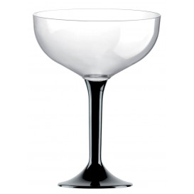 Plastic stam fluitglas zwart 200ml 2P (20 stuks)