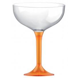 Plastic stam fluitglas oranje Kristal 200ml 2P (200 stuks)